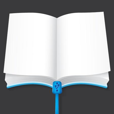 vector illustration of empty E-book Vector