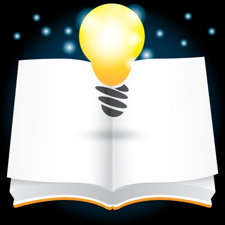 open idea with book vector illustration