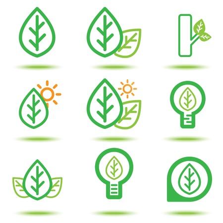 Vector illustration of green icon