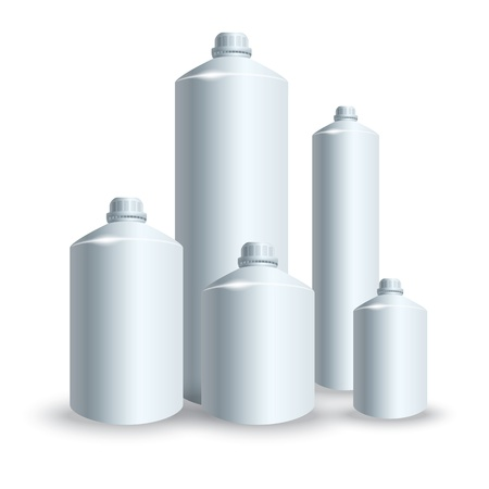 set of silver tank illustration Vector