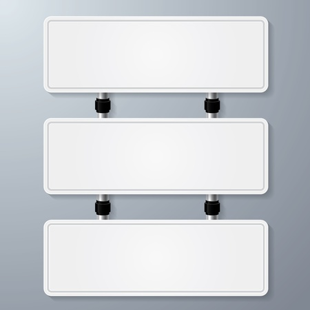 empty white sign vector for your text Stock Vector - 21956532