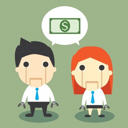 salary man: vector illustration of Salary robot