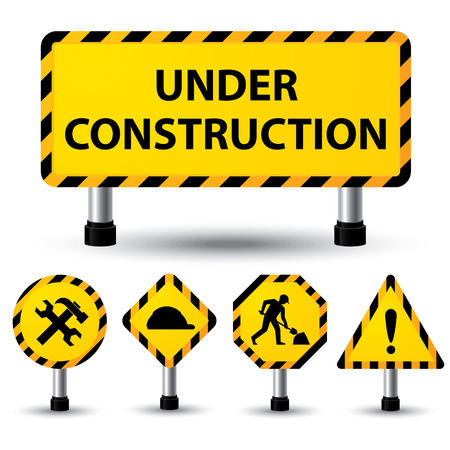 vector sign under construction: vector illustration of under construction sign