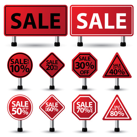 vector illustration of sale sign Vector