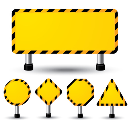 Vector illustration of empty construction sign Stock Vector - 22699362