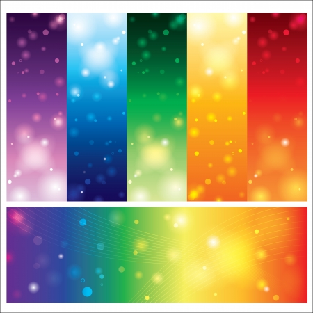 Template card abstract colorful element design  vector illustration Illustration