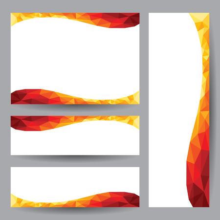 Template card Abstract 3D geometric orange element design background  vector illustration