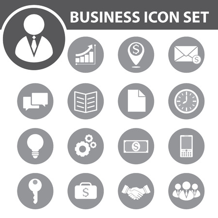 time icon: Business icon set. vector illustration