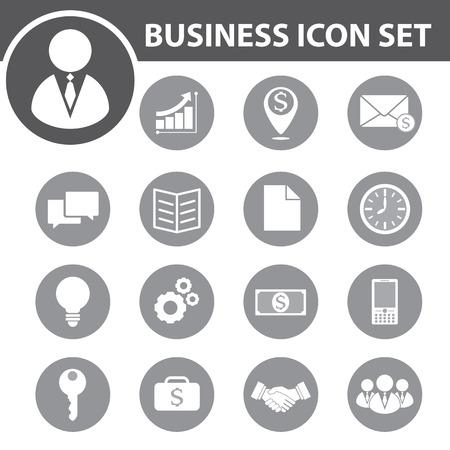 contact icon: Zakelijke icon set. vectorillustratie