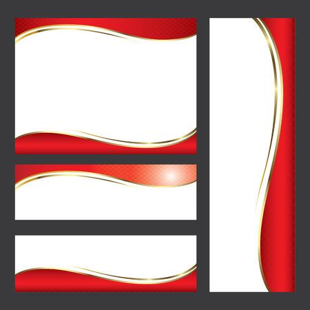 Template red card element design.vector illustration