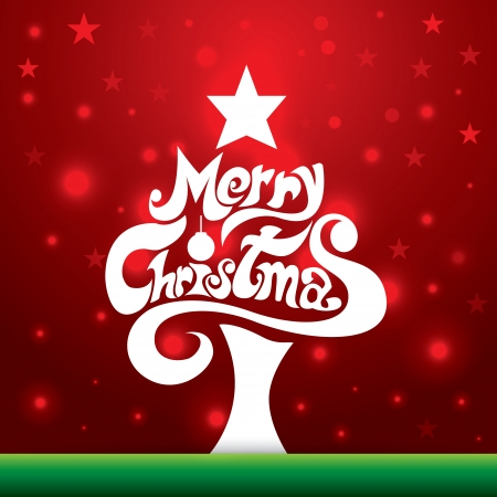 Lettering Merry Christmas background. Illustrazione vettoriale. Pu� essere utilizzato per Natale Greeting Card, web design, bandiera