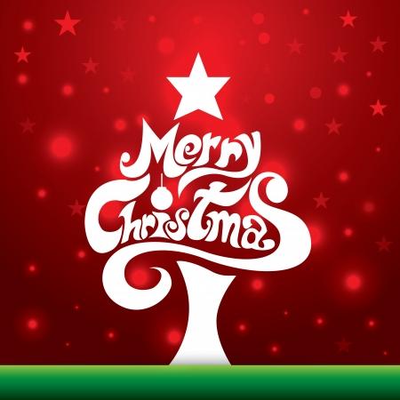 christmas design: Merry Christmas belettering achtergrond. Vector illustratie. Kan gebruikt worden voor Kerstmis Wenskaart, webdesign, banner Stock Illustratie