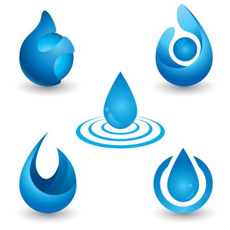 renat: Vattensymboluppsättning. vektor illustration