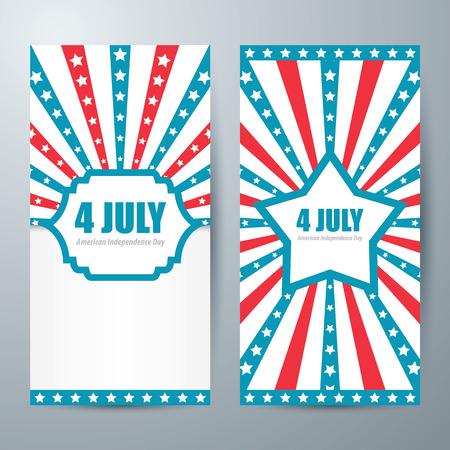 4 july card template design  Vector 일러스트