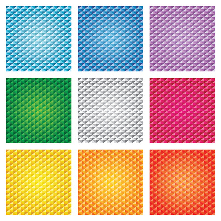 Triangle seamless pattern background set Vector