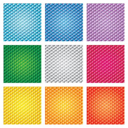 Triangle seamless pattern background set Illustration