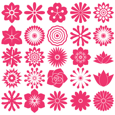 Flower symbol icon for Pattern with White Background