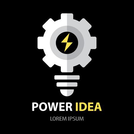 power of thinking: Power idea symbol icon. Flat design. vector illustration. Idea concept