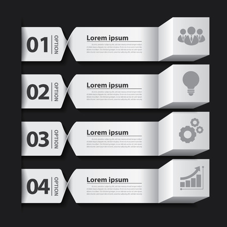 Modern business banner box infographic. Can be used for layout, web design, cover design, brochure, flyer, leaflet, infographics, template. Vector illustration.