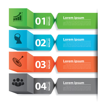 Modern business banner box infographic. Can be used for layout, web design, cover design, brochure, flyer, leaflet, infographics, template. Vector illustration. Vector