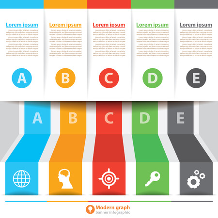 Modern banner infographic. Vector illustration. Can be used for layout, diagram, number options, web design, infographics, template Vector