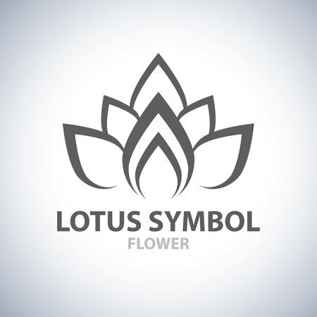 fiore isolato: Lotus design simbolo icona. Illustrazione vettoriale