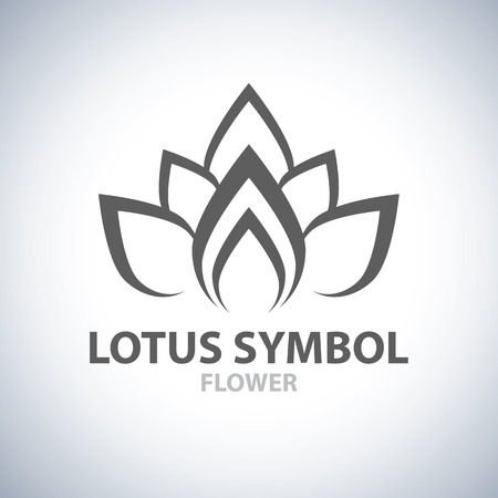 flor de loto: Lotus Símbolo de diseño de iconos. Ilustración vectorial Vectores