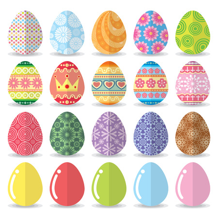 Easter eggs set. Vector illustration. flat design Vector