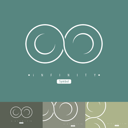 infinite symbol: Abstract infinity symbol symbol icon with business card. Vector