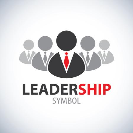 Leadership symbol icon design  Leader and teamwork concept