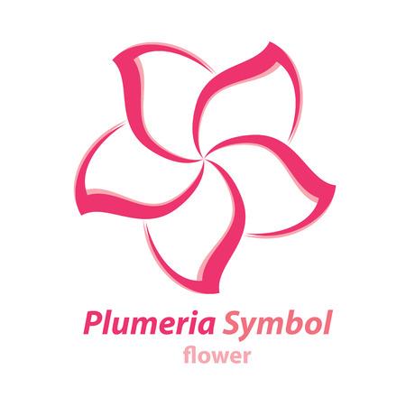 Vector of Plumeria (frangipani) flower symbol icon