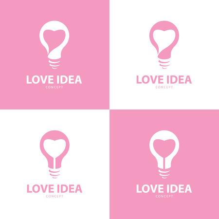 Love idea icon symbol design set, Vector illustration Vector