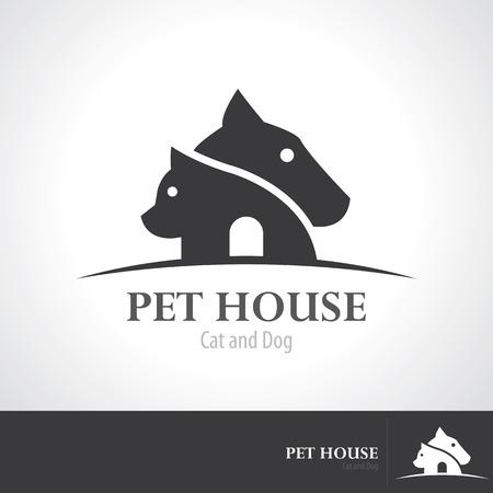Pet house icon symbol design.  일러스트