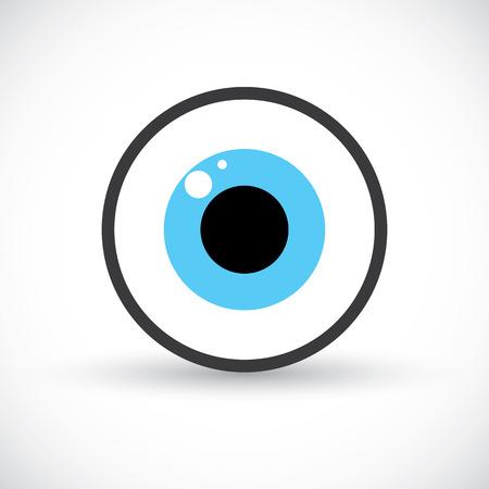 Eye symbol icon, Logo template design. vector illustration