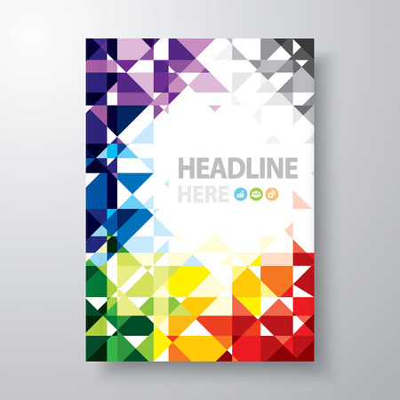 a4: Abstract colorful geometric background. Cover design template layout in A4 size for annual report, brochure, flyer, poster, banner. Vector illustration