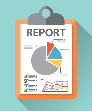 Sprawozdanie z działalności papieru na niebieskim tle z długim cieniem