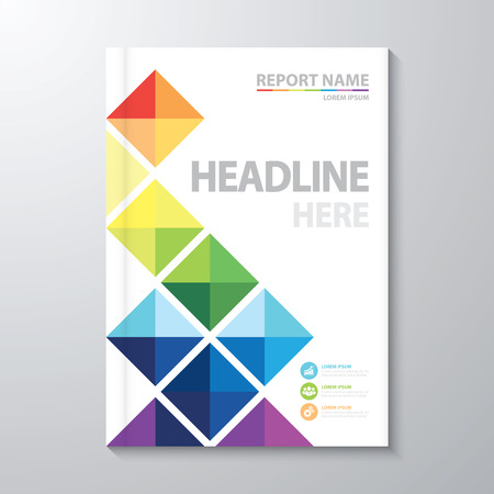 background cover: Abstract colorful geometric background. Cover design template layout in A4 size for annual report, brochure, flyer, poster, banner. Vector illustration