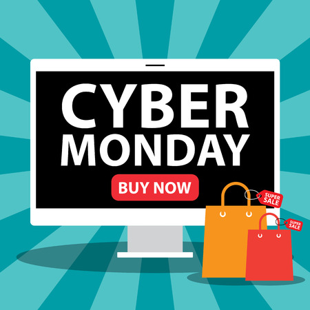 Cyber monday sale background.