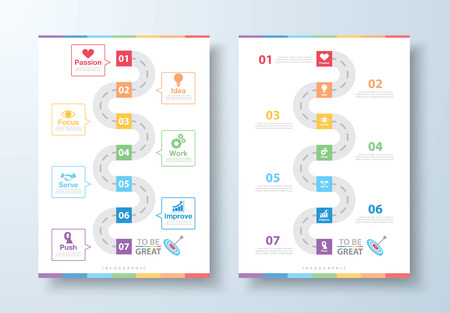 Way to be Great Infographic. Success way concept. Can be used for layout, web design, brochure, leaflet, poster, template