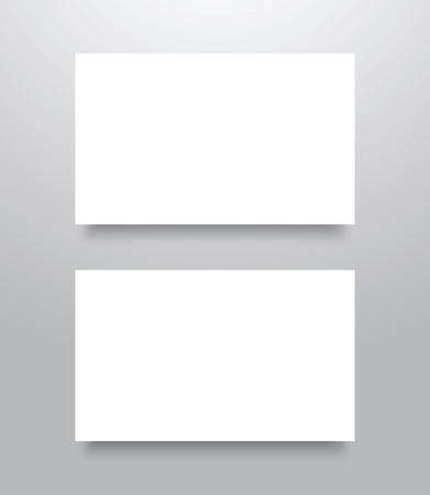 blank business card: Blank  Business card mockup template with shadow Illustration