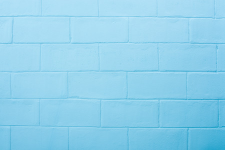 blue wall: Empty of abstract blue brick wall background. Interior clay texture design Stock Photo