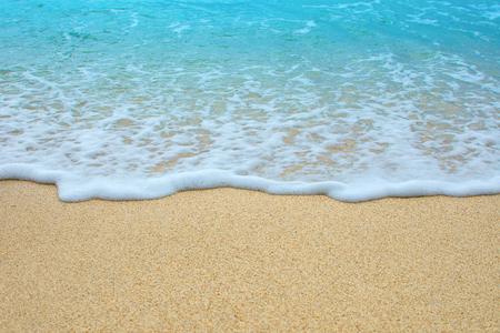 Beautiful blue sea and sand