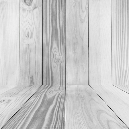 Empty white wood room texture background 스톡 콘텐츠