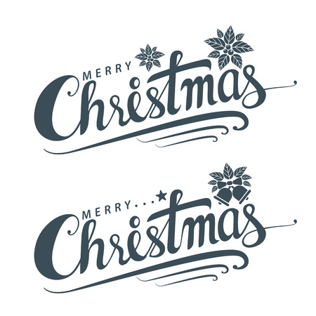 Merry Christmas text, Lettering design card template, Handwriting Alphabets. Hand Drawn Fonts, Creative typography for Holiday Greeting Gift Poster, banner, flyer. Vector illustration. 일러스트