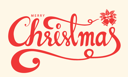 Merry Christmas text, Lettering design card template, Handwriting alphabets. Hand drawn fonts, Creative typography for holiday greeting gift poster, banner, flyer. Vector illustration.