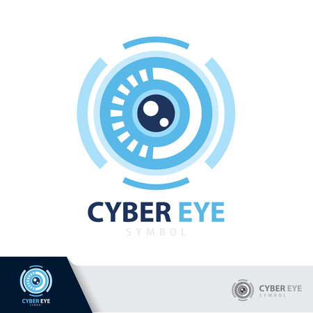Cyber eye symbol icon. vector illustration, Logo template design.