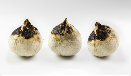 smoked Coconut on white background.