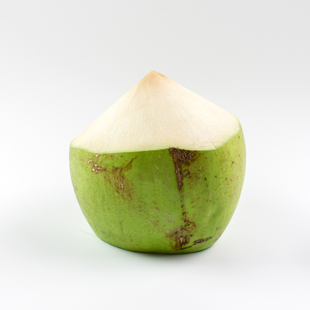 Fresh young coconut on white background.