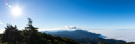 A panorama view of mountain and blue sky at, Chiang mai, Thailand.
