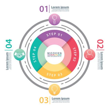 Modern circle infographic design. Vector illustration